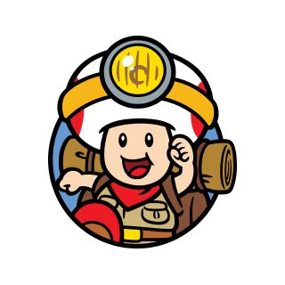 Captain Toad character icon stamp from Super Mario 3D World + Bowser's Fury.