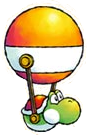 Balloon Yoshi artwork