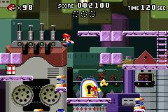 Level 1-3+ of Mario vs. Donkey Kong.