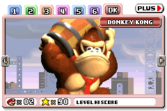 Donkey Kong's level preview in Mario vs. Donkey Kong