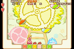 Screenshot of the bouncing blade in Super Mario Advance