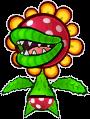 A Paper Petey Piranha's battle sprite from Mario & Luigi: Paper Jam.