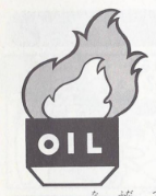 Artwork of Oil from Donkey Kong.