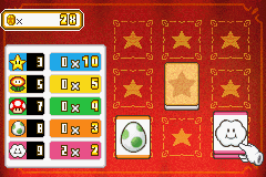The minigame Pair 'Em from Mario Party Advance.