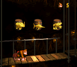 The second Bonus Stage in Mine Cart Madness