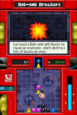 Gameplay of Bob-omb Breakers in Mario Party DS.