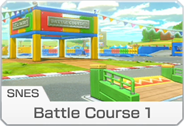 <small>SNES</small> Battle Course 1 icon from Mario Kart 8 Deluxe.