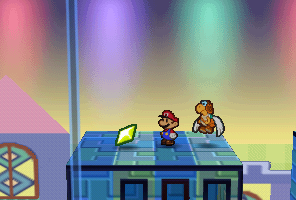 Mario finding a Star Piece in Shy Guy's Toy Box in Paper Mario