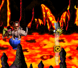 The location of the letter O in Red-Hot Ride from Donkey Kong Country 2: Diddy's Kong Quest