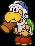 Sprite of a Hammer Bro from Super Paper Mario.