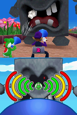 Gameplay of Toppling Terror in Mario Party DS