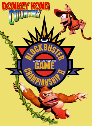 Box art for the super rare Donkey Kong Country Competition Cartridge.