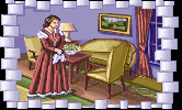 Mary Todd Lincoln in the PC release of Mario's Time Machine