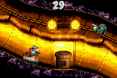 Dixie Kong and Kiddy Kong find the Bonus Coins in the second Bonus Level of Surf's Up