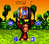 """The options menu for Donkey Kong Country'""""`UNIQ--nowiki-00000000-QINU`""""'s Game Boy Color prototype"""
