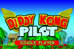 The title screen for the 2003 iteration of Diddy Kong Pilot on Game Boy Advance.