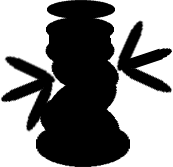 Sprite of a Dark Cursya from Super Paper Mario.