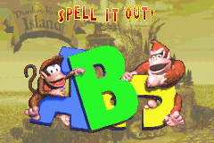 Spell it Out! Bonus Area title card in Donkey Kong Country