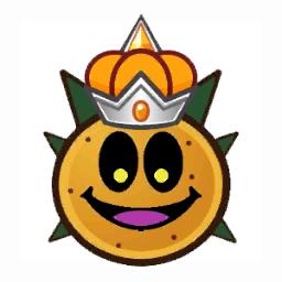 A Paper Tower Power Pokey's Head battle sprite from Mario & Luigi: Paper Jam.