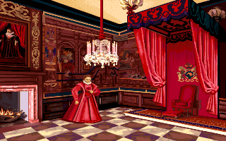 Queen Elizabeth I in the PC release of Mario's Time Machine