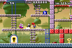 Part 1 of Level 5-2 from the game Mario vs. Donkey Kong.