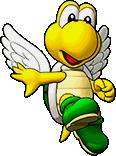 Sprite of Big Green Koopa Paratroopa's team image, from Puzzle & Dragons: Super Mario Bros. Edition.