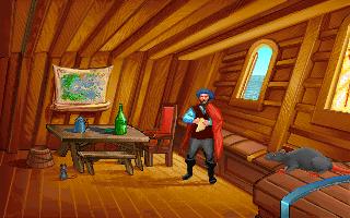 Ferdinand Magellan in the PC release of Mario's Time Machine