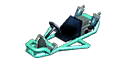 Turquoise Pipe Frame from Mario Kart 7