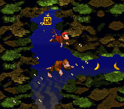 The letter K in Coral Capers (SNES)