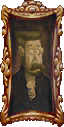 Portrait of a man resembling Neville in Luigi's Mansion