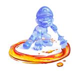 A Sticker of Shadow Mario in Super Smash Bros. Brawl.