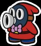 Host Snifit in Paper Mario: Color Splash