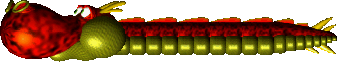 Sprite of a red Dragon from Yoshi's Story
