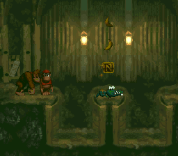 The N in Stop & Go Station from Donkey Kong Country