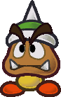 Sprite of a Spiked Goomba from Super Paper Mario.