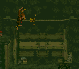 The K in Stop & Go Station from Donkey Kong Country