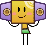 Sprite of a Boomboxer from Super Paper Mario.