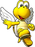 Sprite of Big Yellow Koopa Paratroopa's team image, from Puzzle & Dragons: Super Mario Bros. Edition.