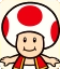 Sprite of Red Toad from Mario Party: Star Rush