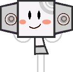 Sprite of a Blastboxer from Super Paper Mario.