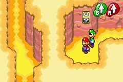 Hidden? Block location in Teehee Valley, in Mario & Luigi: Superstar Saga.