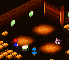 Poison attack from Super Mario RPG.