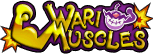 The logo for the Wario Muscles, from Mario Super Sluggers.