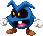 Sprite of a Blue Virus from Mario & Luigi: Superstar Saga + Bowser's Minions.
