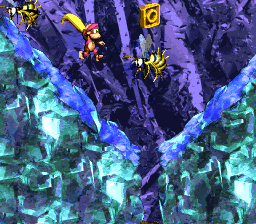 The O in Black Ice Battle (Donkey Kong Country 2: Diddy's Kong Quest)