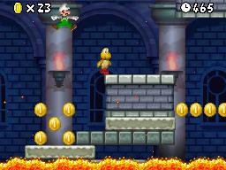 Mario in World 6-Castle.
