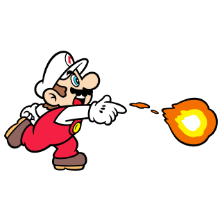 Fire Mario stamp from Super Mario 3D World + Bowser's Fury.