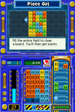 Gameplay of Piece Out in Mario Party DS.