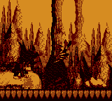 Donkey Kong encounters a Zinger in the first Bonus Area of Button Barrel Blast in Donkey Kong Land