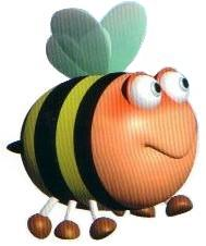 Artwork of a bumblebee from Yoshi's Story.